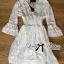 Lady Ribbon Classy Smocked Lace Dress thumbnail 8
