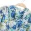 ZARA เสื้อคอจีน ผ้าพิมพ์ลายดอก โทนสีน้ำเงินฟ้า thumbnail 6