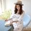 Ice Vanilla มินิเดรสผ้าคอตตอนสีขาว ปักลายน่ารัก ฟรุ้งฟริ้ง thumbnail 4