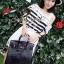 Seoul Secret Cool Stripy Top Shoulder Oblique Lace thumbnail 6