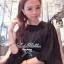Lady Ribbon เสื้อเชิ้ตสไตล์สาวเกาหลีปกข้าง สีขาว-สีดำ thumbnail 6
