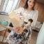 Seoul Secret ชุดเซ็ทเสื้อผ้าลูกไม้ กระโปรงผ้าแก้วทอลายดอก thumbnail 6