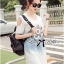Lady Ribbon Ripped Washed Denim Dress thumbnail 5