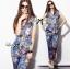 Lady Ribbon Chinoise Floral Printed Sleeveless Shirt Jumpsuit thumbnail 2