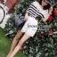 Seoul Secret Cool Stripy Top Shoulder Oblique Lace thumbnail 4