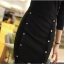 Little Black Dress by Cherry KOKO เดรส ผ้าเนื้อผสมลายตาราง แต่งกระดุมเก๋ๆ thumbnail 8
