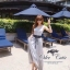 Odee Cutie Korean Style Maxi Dress ชุดเดรสยาวสีเทา แขนกุด thumbnail 6