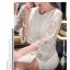 Icevanilla Luxury See-through White Lace Dress thumbnail 3
