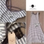 Lady Ribbon Striped Maxi Dress เดรสยาวแขนกุด ลายทางทรงบอดี้คอน thumbnail 12