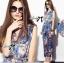 Lady Ribbon Chinoise Floral Printed Sleeveless Shirt Jumpsuit thumbnail 5