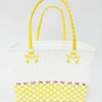 ตะกร้าจ่ายตลาด กลาง สีขาว โทนขาว-เหลือง(JLM-โทนขาว-เหลือง)