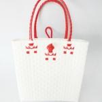 กระเป๋า ก้นเหลี่ยม หูสีแดง (AU-F14)ขนาดโดยประมาณ กว้าง 10 cm.ยาว 35 cm.สูง 34 cm.