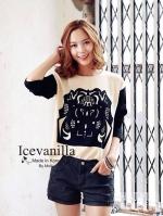 Icevanilla Vintage Ladies Printed Blouse