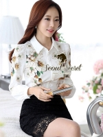 Seoul Secret Yellow Bloom Print Shirt