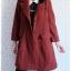 ((ขายแล้วครับ))((จองแล้วครับ))ca-2540 เสื้อโค้ทกันหนาวผ้าถักสีเลือดหมู รอบอก38 thumbnail 3