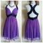 Lipsy Purple Black Sequin Dress Size uk thumbnail 1